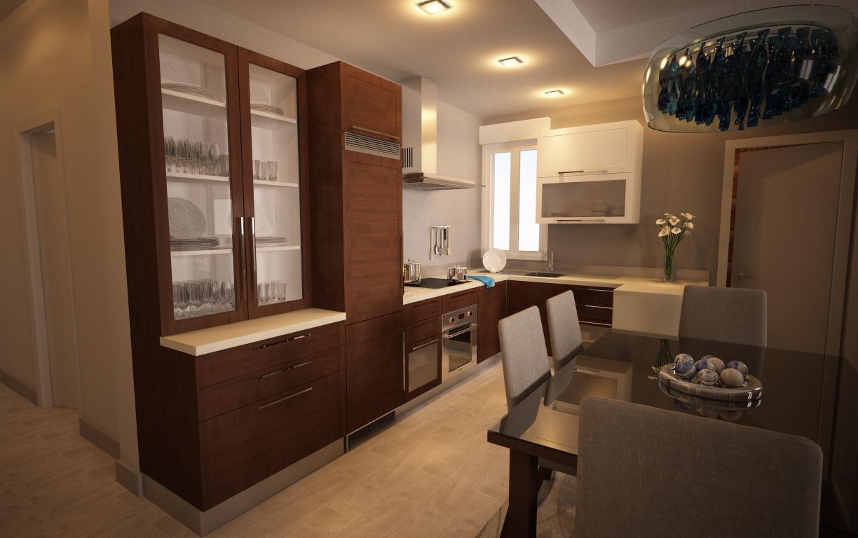 Recreaci n virtual cocina abierta al sal n for Reforma cocina abierta al salon