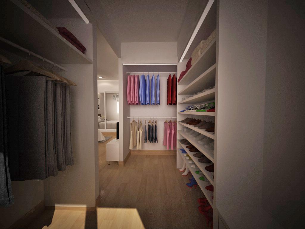Recreación virtual Reforma Dormitorio con Vestidor