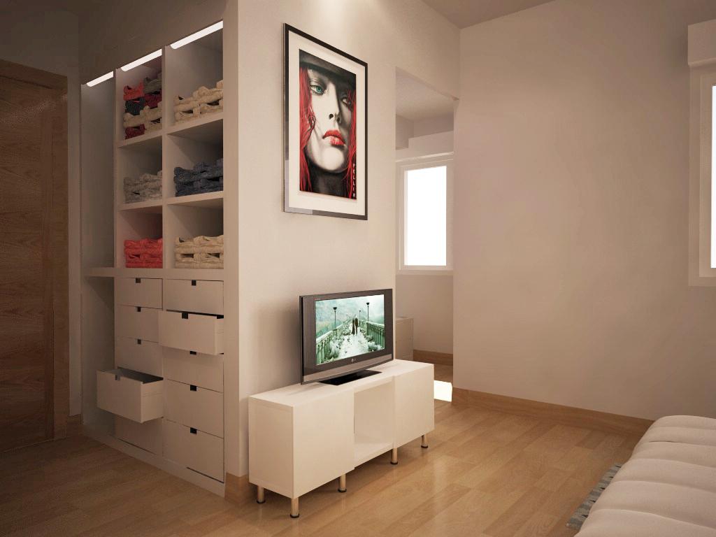 Recreaci n virtual reforma dormitorio con vestidor - Vestidores para dormitorios ...